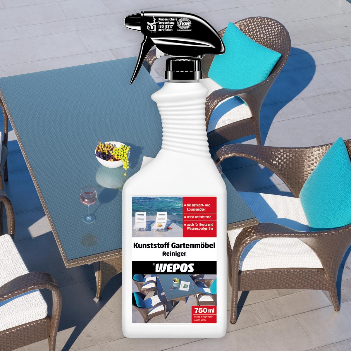 Kunststoff Gartenmöbel Reiniger