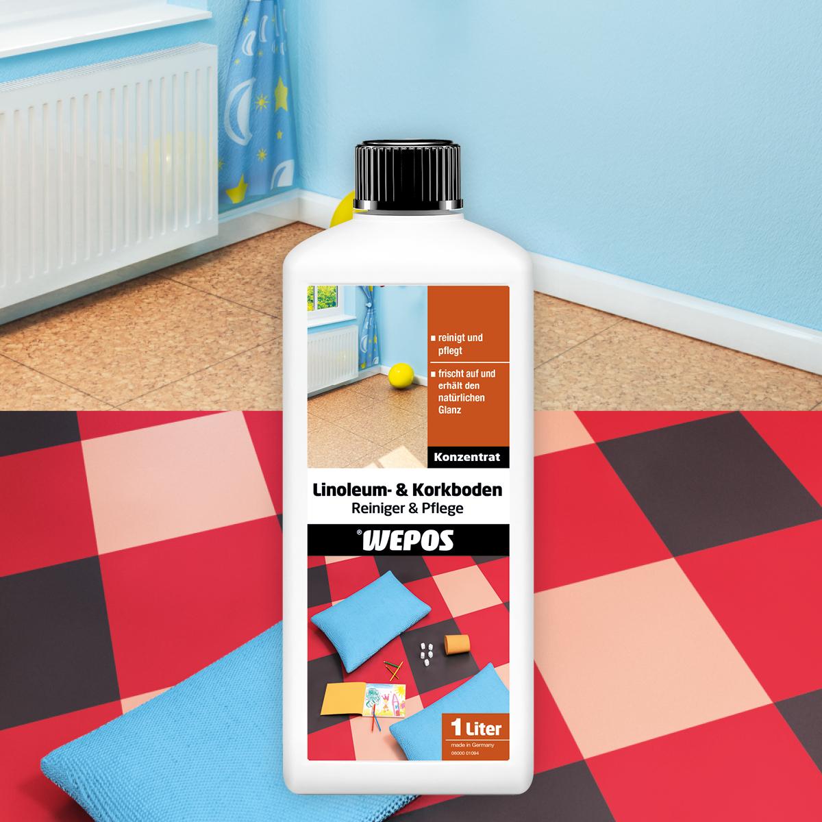 Linoleum- & Korkboden Reiniger & Pflege