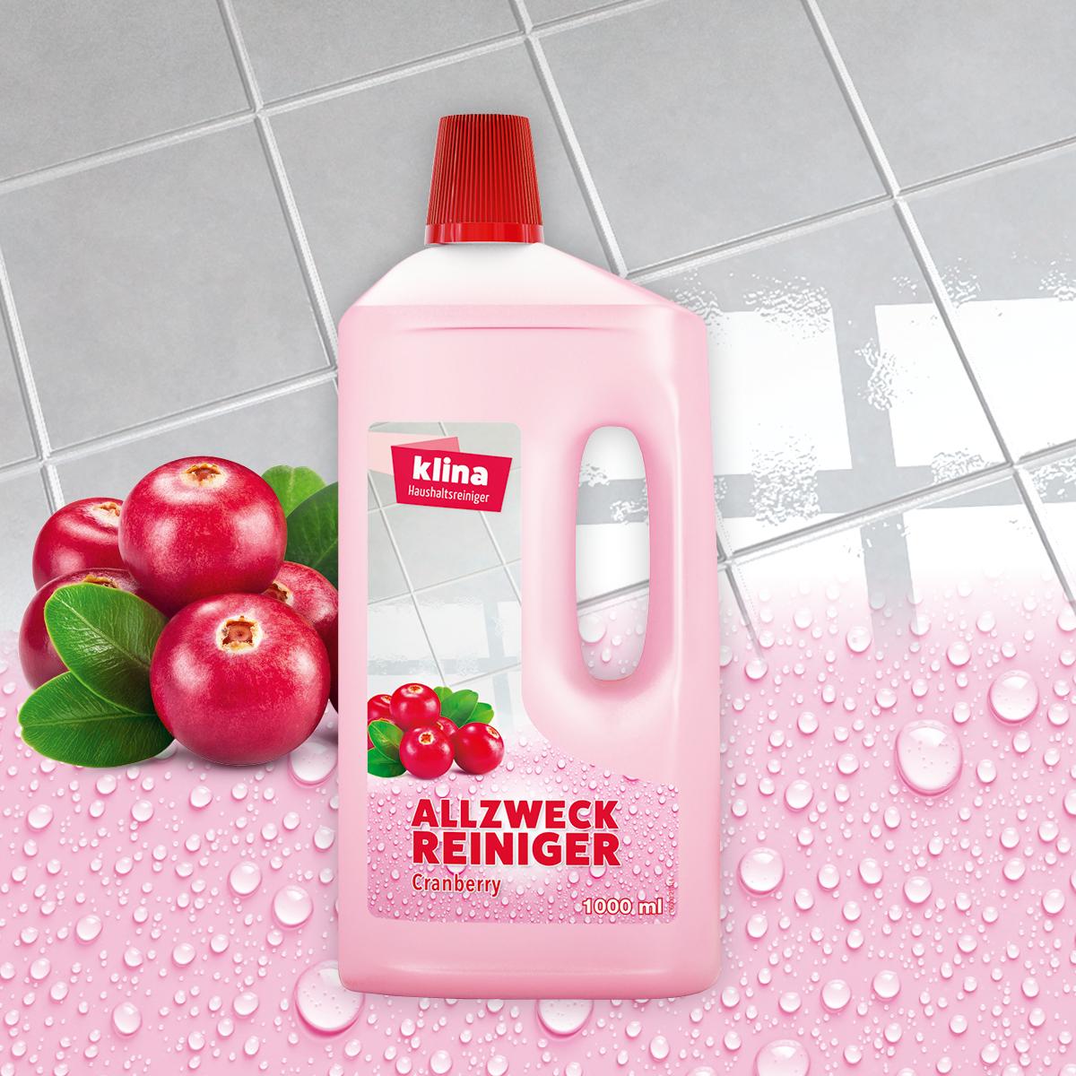 klina Allzweckreiniger Cranberry 1,0 L